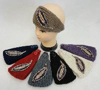 Hand Knitted Ear Band [Beaded Leaf]